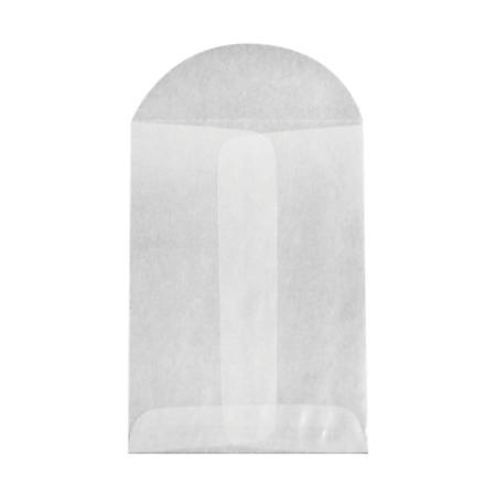"LUX Open-End Coin Envelopes With Flap Closure, #1, 2 1/4"" x 3 1/2"", Glassine, Pack Of 250"