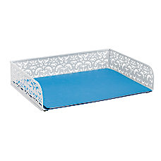 Realspace Brocade Document Tray White