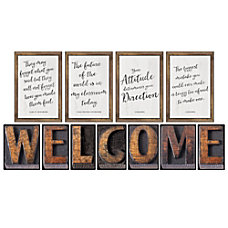 Schoolgirl Style Welcome Bulletin Board Set