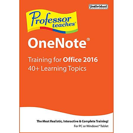 Professor Teaches OneNote 2016, Download Version
