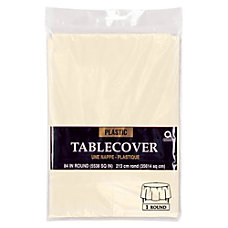 Amscan Plastic Round Table Covers 84