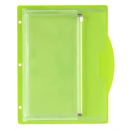 Office Depot® Brand Multi-Compartment Binder Pocket, 50-Sheet, Green