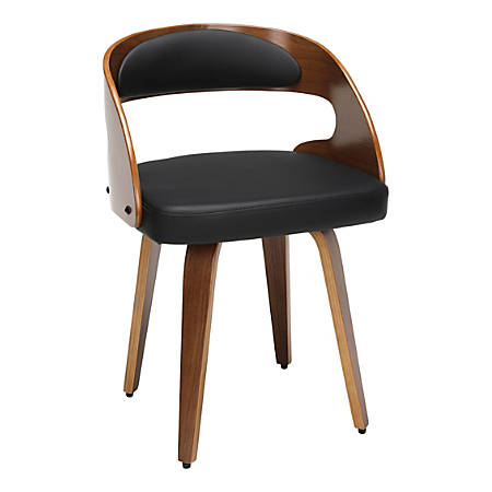 OFM 161 Collection Mid-Century Modern Dining Chair, Black