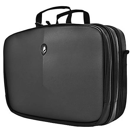 """Mobile Edge Alienware Vindicator Carrying Case (Briefcase) for 17.1"""" Notebook - Black - Weather Resistant Exterior, Scratch Proof Interior - Nylon - Alien Head Logo - Checkpoint Friendly - Handle, Shoulder Strap - 14.5"""" Height x 17.5"""" Width x 6.5"""" Depth"""