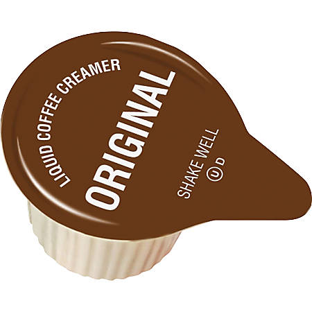 Genuine Joe Liquid Coffee Creamer Singles - Original Flavor - 192/Carton