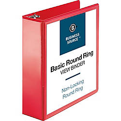 Business Source Round Ring Binder 3