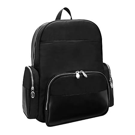 "McKlein N-Series Cumberland Nano Tech Backpack With 17"" Laptop Pocket, Black"