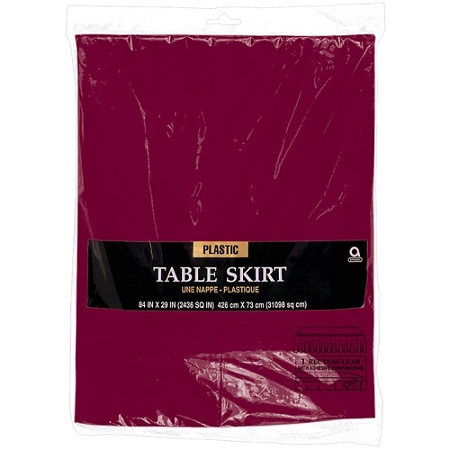 Amscan Plastic Table Skirts 84 X 29 Berry Pack Of 2 Item 7096059
