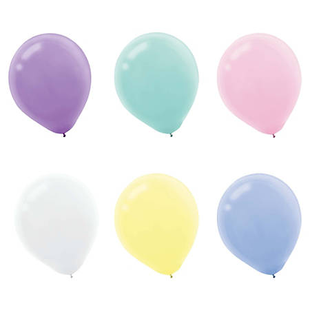 Amscan Latex Pastel Balloons, 12