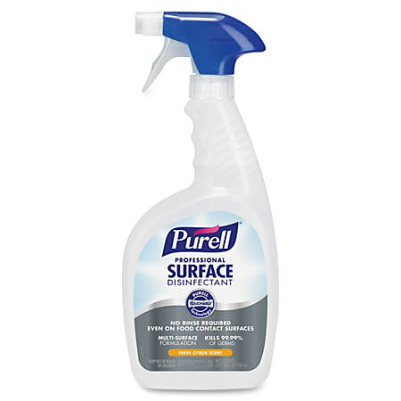 PURELL® Professional Surface Disinfectant - Ready-To-Use Spray - 0.25 gal (32 fl oz) - Citrus Scent - 12 / Carton - Clear