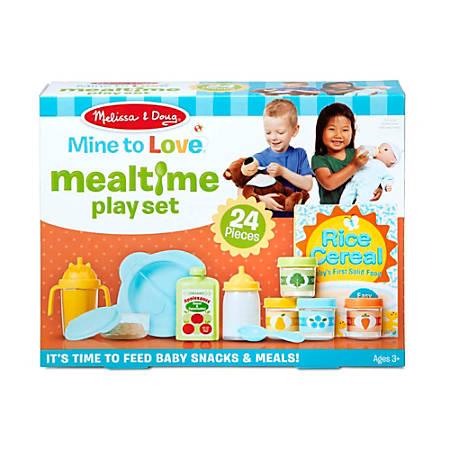 Melissa & Doug Pretend Play Educational Toys, Mine To Love Mealtime Play Set