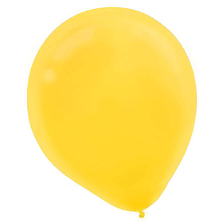 "Amscan Latex Balloons, 12"", Sunshine Yellow, 72 Balloons Per Pack, Set Of 2 Packs"
