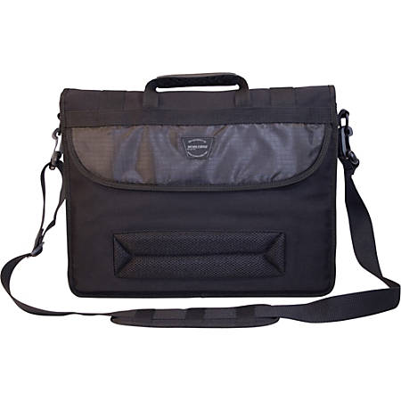 "Mobile Edge 17.3"" Canvas ECO Messenger Bag - Black"
