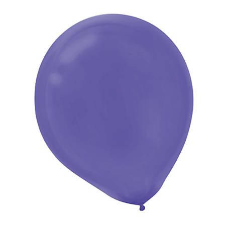"Amscan Latex Balloons, 12"", Purple, 72 Balloons Per Pack, Set Of 2 Packs"