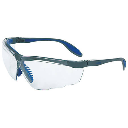 Genesis X2 Eyewear, Clear Lens, Dura-Streme, Black/Yellow Frame
