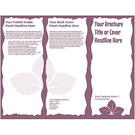 Customizable Trifold Brochure, Purple Leaves