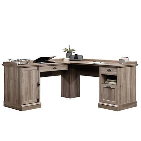 Sauder® Barrister Lane L-Shaped Computer Desk, Salt Oak