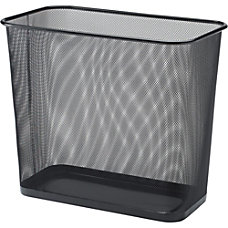 Lorell Mesh Waste Bin Rectangular Black