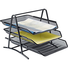 Lorell Mesh 3 Tier Desk Tray