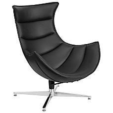 Flash Furniture Cocoon Swivel Chair BlackSilver