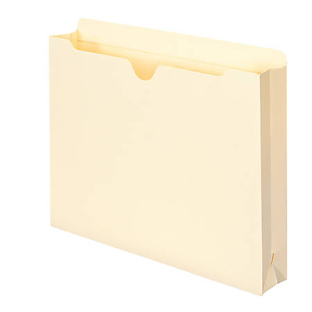 """Smead® Expanding Reinforced Top-Tab File Jackets, 2"""" Expansion, Letter Size, Manila, Box Of 50"""