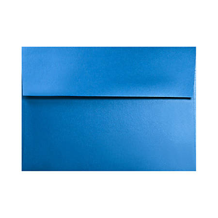 "LUX Invitation Envelopes With Moisture Closure, A6, 4 3/4"" x 6 1/2"", Boutique Blue, Pack Of 50"