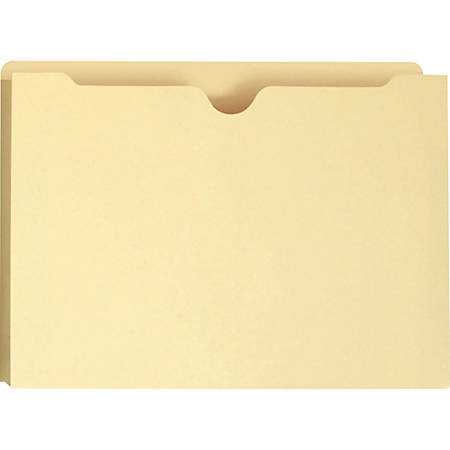 """Smead® File Jackets, 1"""" Expansion, Legal Size, 8 1/2"""" x 14"""", Manila, Box Of 50 Jackets"""