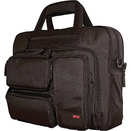 "Mobile Edge MEBCC1 Carrying Case (Briefcase) for 16"" Ultrabook - Black - 1680D Ballistic Nylon - Shoulder Strap, Hand Carry - 12"" Height x 16.5"" Width x 7"" Depth"