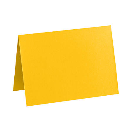 """LUX Folded Cards, A9, 5 1/2"""" x 8 1/2"""", Sunflower Yellow, Pack Of 500"""