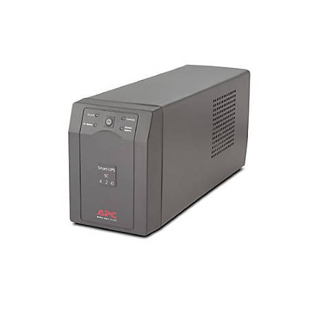 APC™ Smart-UPS® SC420 Battery Backup, 420VA/260 Watt