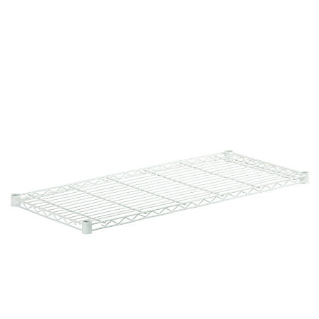 "Honey-Can-Do Powder-Coat Steel Shelf, 350-Lb Capacity, 1""H x 16""W x 36""D, White"