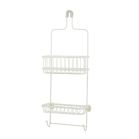 "Honey-Can-Do Premium Shower Caddy, 26""H x 10 1/4""W x 4""D, White"