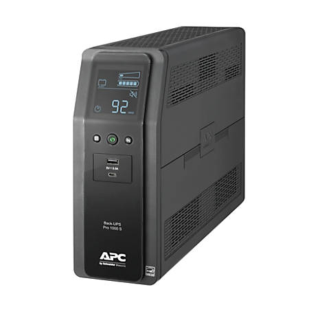 APC BR1000MS Back-UPS Pro 10-Outlet UPS, 1,000VA/600 Watts