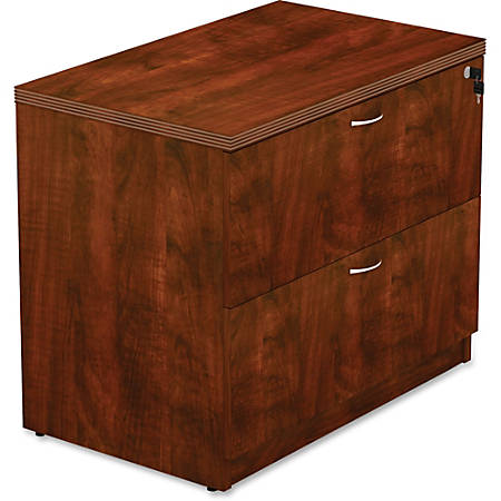 "Lorell® Chateau 36""W Lateral 2-Drawer File Cabinet, Cherry"
