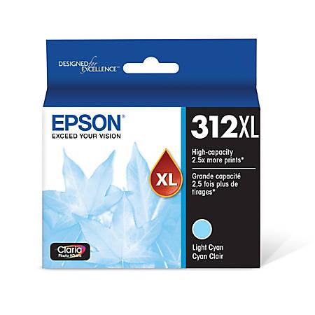 Epson® Claria Photo Hi-Definition T312XL520-S High-Yield Light Cyan Ink Cartridge