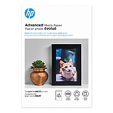 HP Advanced Photo Paper 4 x