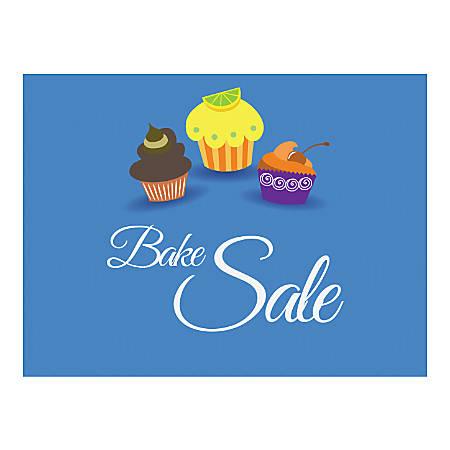Plastic Sign, Bake Sale Blue, Horizontal