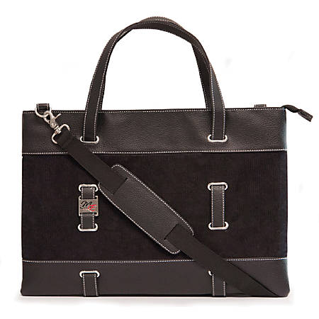 """Mobile Edge Carrying Case (Tote) for Apple 11"""" Tablet, iPad - Black - Corduroy Fabric, Faux Leather Trim - Shoulder Strap - 9.5"""" Height x 0.8"""" Width x 13"""" Depth"""