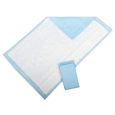 """Covidien STA-PUT™ Underpads, 30"""" x 36"""", w-Adhesive Strip, Light Blue, Pack Of 72"""