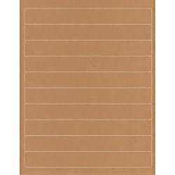 rebinder adhesive binder spine labels 1 x 8 brown kraft 10 labels