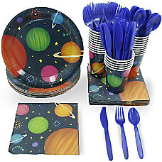 Juvale Outer Space Party Supplies Serves