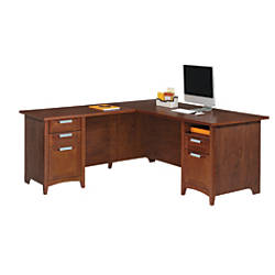 Beautiful L Shaped Desk with Filing Cabinet