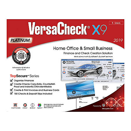 VersaCheck® TopSecure™ X9 Platinum 2019, 5 Users, Traditional Disc