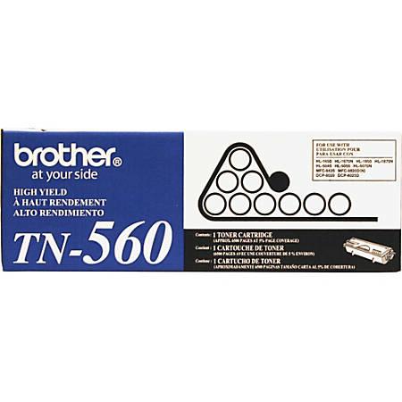 Brother® TN-560 High-Yield Black Toner Cartridge