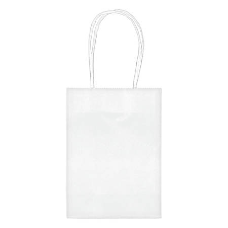 "Amscan Kraft Paper Bags, 5-1/8""H x 4""W x 2""D, Frosty White, Pack Of 24 Bags"