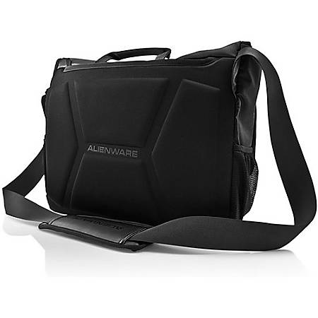"Mobile Edge Alienware Vindicator AWVM1417 Carrying Case (Messenger) for 17.1"" Notebook - Black - Weather Resistant Flap, Wear Resistant Base - Nylon - Alien Head Logo - Handle, Shoulder Strap - 13.5"" Height x 17.5"" Width x 5"" Depth"