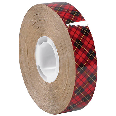 "Scotch® 976 Adhesive Transfer Tape, 1"" Core, 0.25"" x 36 Yd., Clear, Case Of 72"