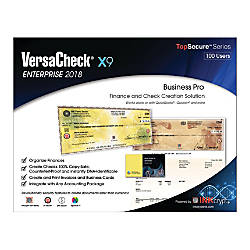 VersaCheck X9 Enterprise 2018 For 100