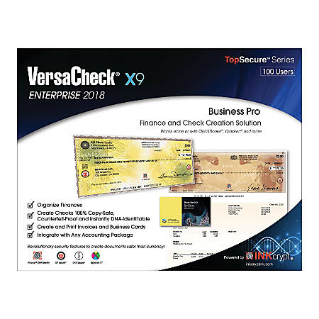 VersaCheck® X9 Enterprise 2018, For 100 Devices, Traditional Disc