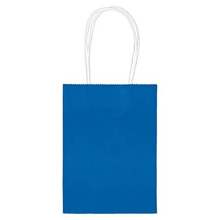 """Amscan Kraft Paper Bags, 5-1/8""""H x 4""""W x 2""""D, Bright Royal, Pack Of 24 Bags"""